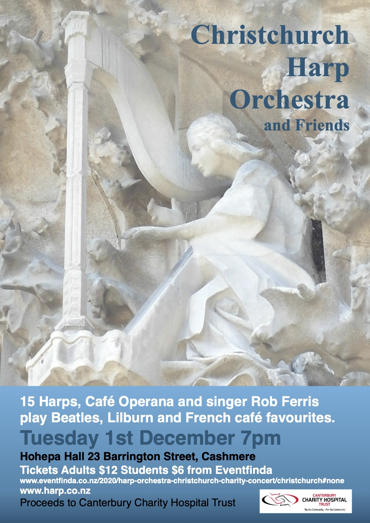 Harp orchestra and friends poster