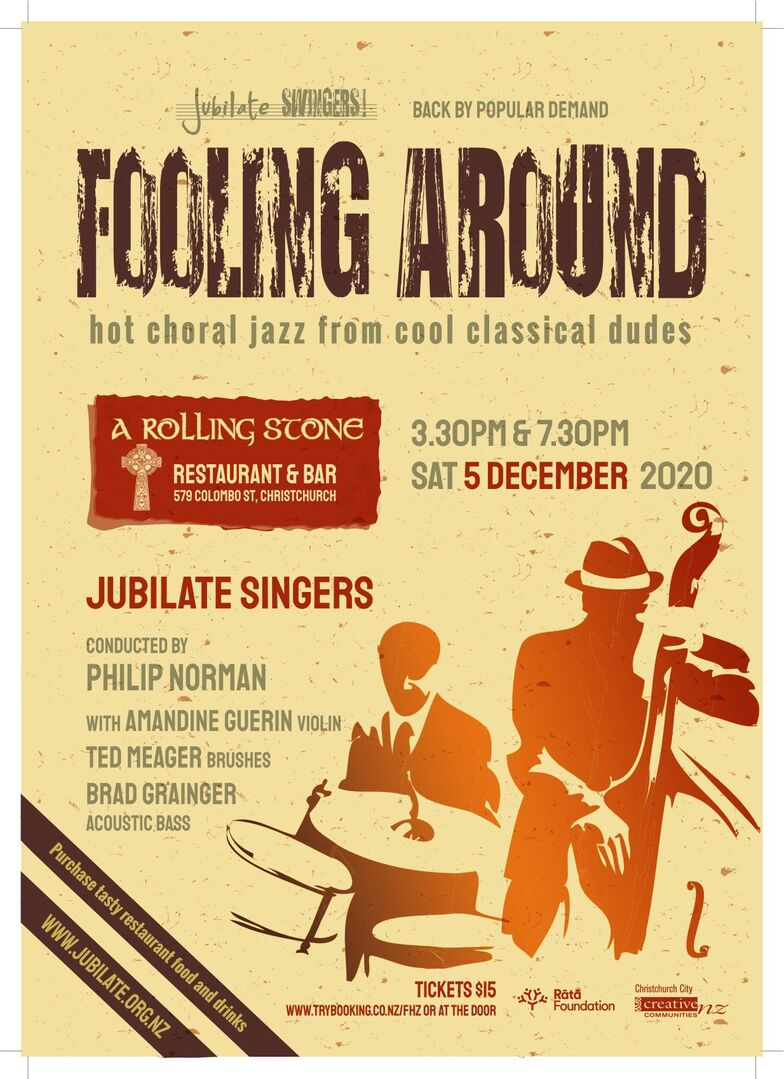 Jubilate Singers Fooling Around concert poster
