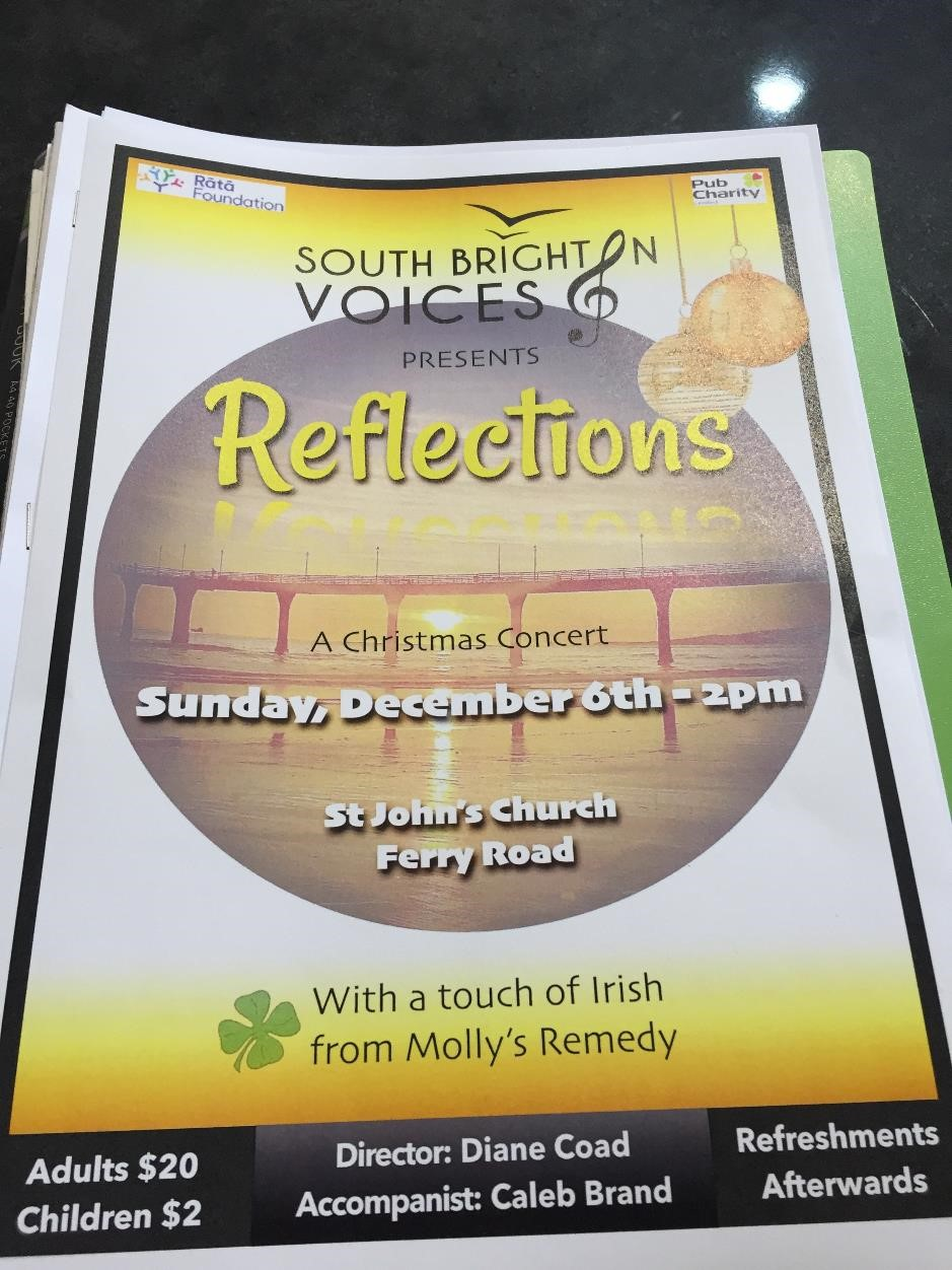 Sth Brighton Voices concert poster