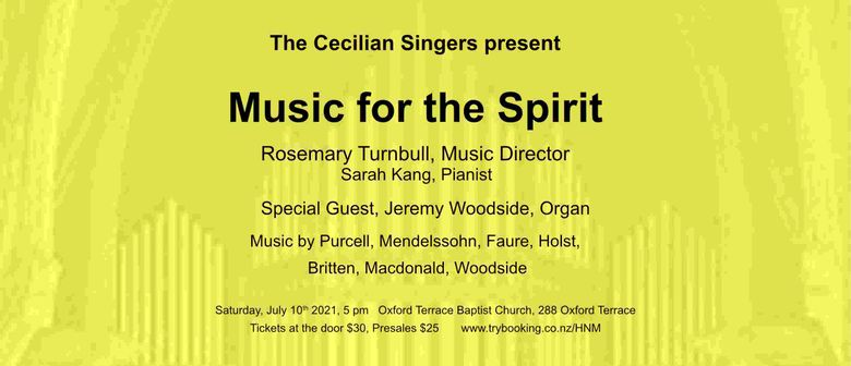 Cecilian Singers poster